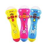 Dswe Juguete Luminoso Duradero para niños, micrófono Creativo, Palo Intermitente, Juguete Divertido de Karaoke, Color Aleatorio