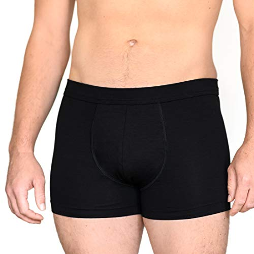 laulas Sureshorts - Calzoncillos para Hombre (incontinencia, Seguros, discretos, Invisibles) Negro L