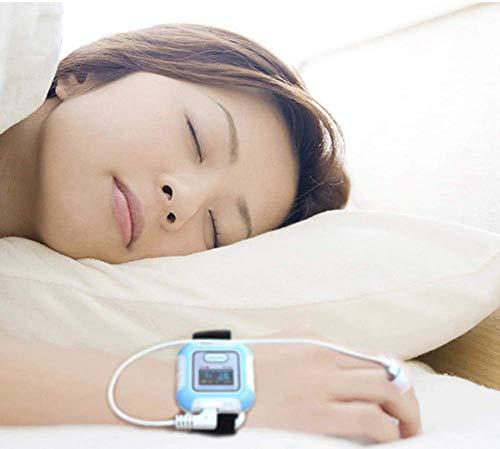 HJRD Oximeter, Oximeter Atemschlafmonitor CE ISO-zertifizierter Schlafapnoe-Syndrom-Monitor Spo2-Sensor Bluetooth-Fingerpulsoximeter