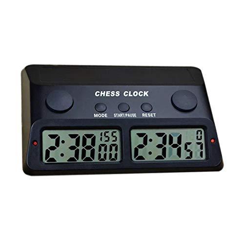 LOVIVER Juego de competición Reloj de ajedrez Digital electrónico Regalos Temporizador de Cuenta atrás para I-GO, ajedrez Chino, ajedrez Internacional - Negro