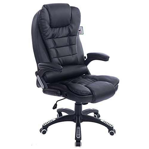 Cherry Tree Furniture Executive Recline Extra Padded Office Chair (Black PU...