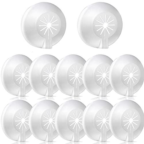 Mengger embellecedor radiador plástico collar tuberia Cubiertas 30 Piezas blanco 8-22 mm diámetro calefaccion Tubo rosetones tubos