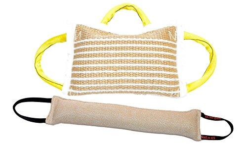 Bundle 1 - 3 Handle Jute Bite Pillow Firm & 1 - 4' X 24' 2 Handle Jute...