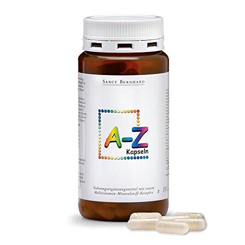 A-Z-Kapseln mit Folsäure, Niacin, Biotin, Magnesium, Eisen, Kalium, Selen 150 Kapseln