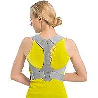 TURATA Corrector Postura Espalda y Hombros, Hombro Ajustable Profesional y Respaldo de La Médula Espinal Soporte, Prevención y Mejora de Las Jorobas, Alivia el Dolor de Espalda, Hombro y Cuello (M)