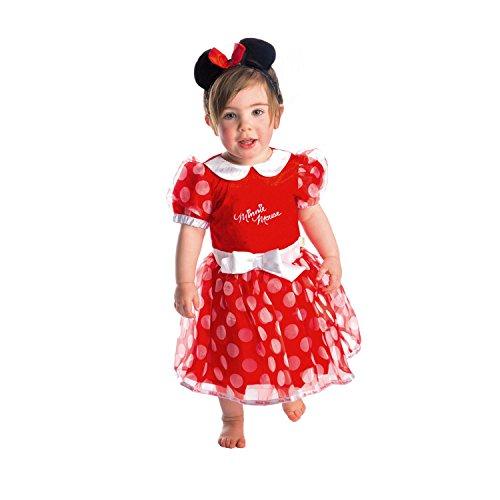 Amscan - DCMIN-DRR06 - Costume - Robe de Minnie - Rouge - 6-12 Mois