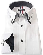 [パリス16ク] ワイシャツ メンズ 長袖 形態安定 ボタンダウン ドゥエボットーニ カッタウェイ