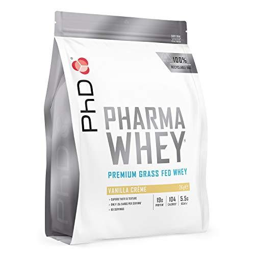 PhD Pharma Whey Protein Powder, Vanilla Crème, 2 kg