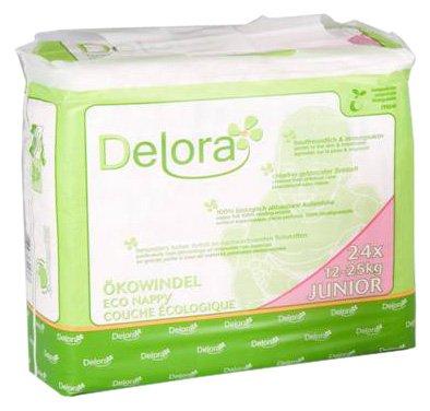 Delora eco-luiers Junior, 4-pack (4 x 24 stuks)
