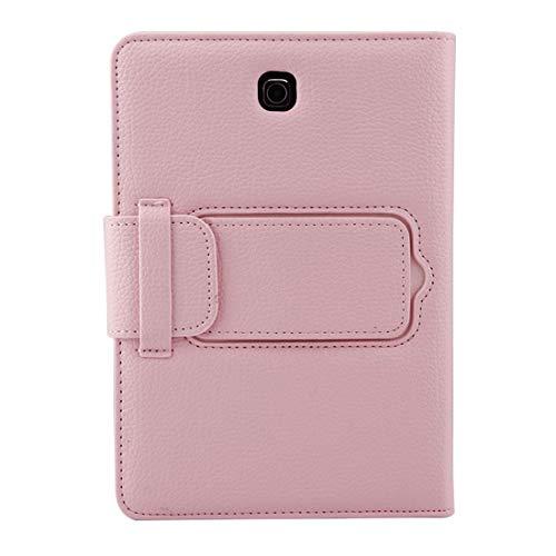 WEI RONGHUA Funda Protectora Funda de Cuero Litchi Textura con SoporteDesmontable Bluetoothpara Samsung Galaxy Tab S2 8.0 T710 / T715 2 en 1 Teclado Funda de Tableta (Color : Rosado)
