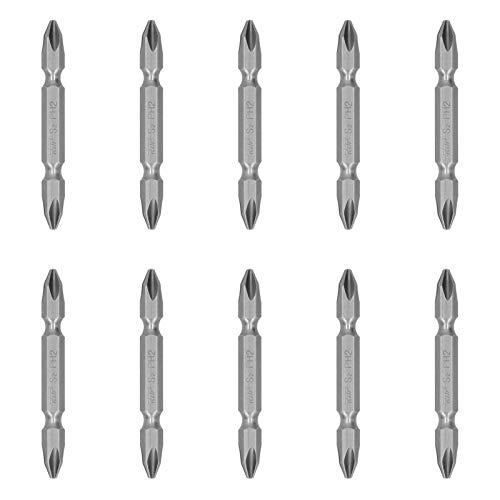 LANTRO JS - 10 piezas de destornillador, destornillador cruzado de doble cabeza S-1/4, juego de cabeza de destornillador eléctrico