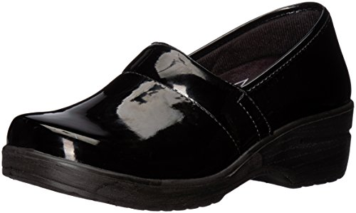 Easy Works Women's LYNDEE Health Care Professional Shoe, Black Patent, 7 M US