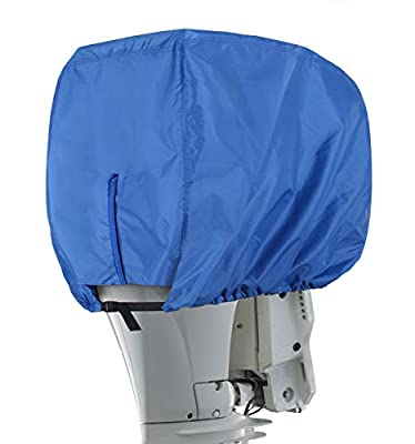 Explore Land Outboard Motor Cover - Waterproof 600D Heavy Duty Boat Engine Hood Covers Fit for 25-300HP Motor (Blue, 115-225HP) by Explore Land