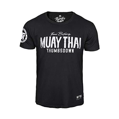 Pulgares Down Muay Tailandés Camiseta Tailandés Boxeo MMA. Gimnasio Entrenamiento. Marcial...