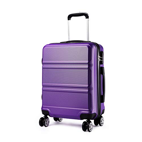 Kono Large 28 Inch Luggage Lightweight ABS Hard Shell Trolley Travel Case with 4 Spinner Wheels Fashion Suitcase (28', Purple)
