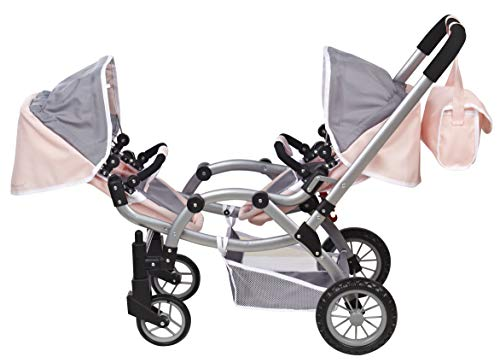Deluxe Twin 2 in 1 Doll Stroller/Pram Extra Tall 30.5 High by Me & My Doll Collection