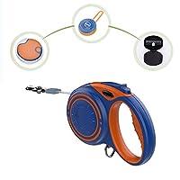JIAYING 犬の引き込み式の鎖 犬の引き込み式の鎖、古典的な引き込み式の犬の鎖、アップグレードされた引き込み式の犬の鎖、Bluetoothオーディオ/LEDライト/多機能ボックス、マルチカラーオプション (Color : Blue, Size : M)