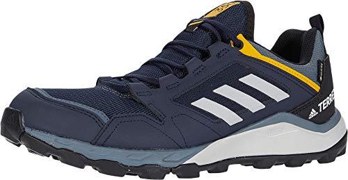 adidas outdoor Men's Terrex Agravic TR GTX Running Shoe, Legend Ink/Grey Two/Active Gold, 6.5 M US