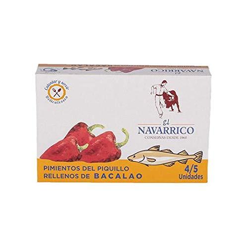 Pimientos del Piquillo rellenos de Bacalao en lata El Navarrico 270 ml