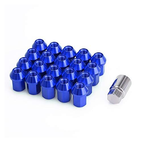 Wishful Coche antirrobo 6061 Aleación de Aluminio Tuercas de Bloqueo Longitud de Longitud 35mm M12 * 1.5 M12 * 1.25 JDM Aftermarket Lug Nuts (Color Name : Blue, Specifications : M12x1.25)