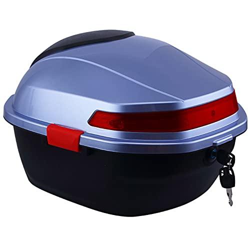 JKGHK Baúl Moto, Caja Superior para Almacenamiento De Equipaje Y Casco, con Hardware De Montaje Universal, Maletero De Almacenamiento con Cerradura, para Scooter/Motocicleta/Ciclomotor