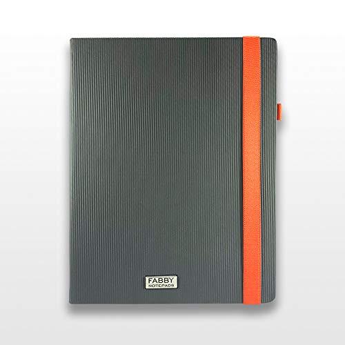 Bullet Journal-Notizbuch B5, Kanalettendesign, Grau; beeindruckende Textur, macht Ihr Notizbuch zu einem Objekt von hoher Unterscheidung.