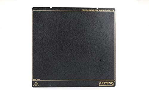 ULTISTIK Premium Powder Coated Ultem (PEI) Textured Build Plate 254 x 241 for MK52 Prusa i3 MK2.5 MK3 MK3S 3D Printer Black Edition