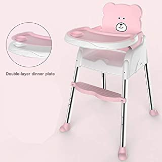 Baby High Chair, Baby Heightening Dining Seat Infant Portable Dining Table and Chairs Multifunctional Adjustable Children ...