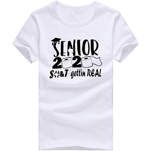 Xinantime Basic T-Shirts 2020 Quarantined Toilet Paper Seniors Shirt Unisex for Women Men Casual Tee (d-White,XL)