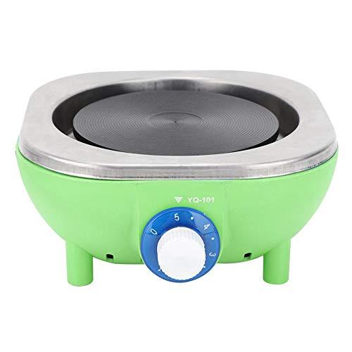 Tragbarer Elektroherd, 500 W Mini-Einzelbrenner Kleine Kochplatten für das Wohnheim Office Home Camp, Arbeitsplatte Mini Elektroheizofen zum Kochen/Milch/Tee/Nudel(EU-Stecker 230V (grün))