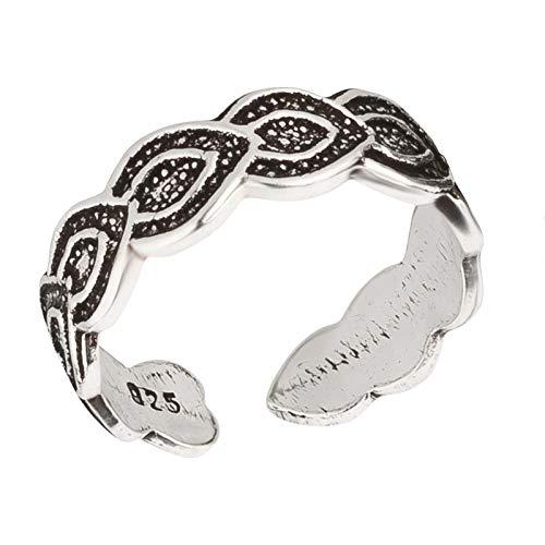 FIVE-D, anello elegante per dita dei piedi, misura regolabile, in argento Sterling 925, in confezione regalo