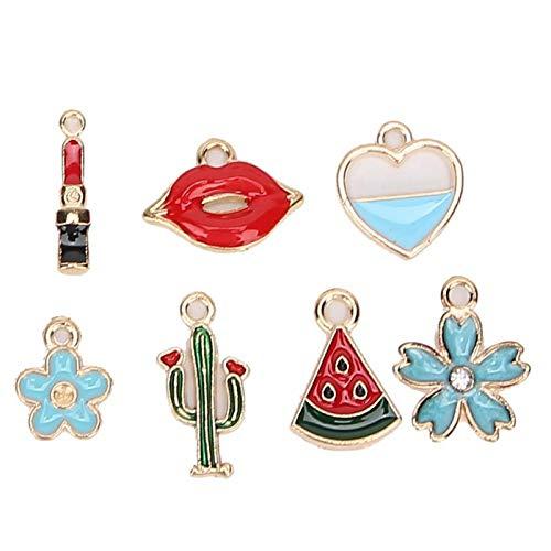 Suministros para hacer joyas, accesorios para colgantes, 30 piezas para hacer pulseras, collares, colgantes y horquillas para mujeres, ropa para el hogar, decoración para llaves, niña