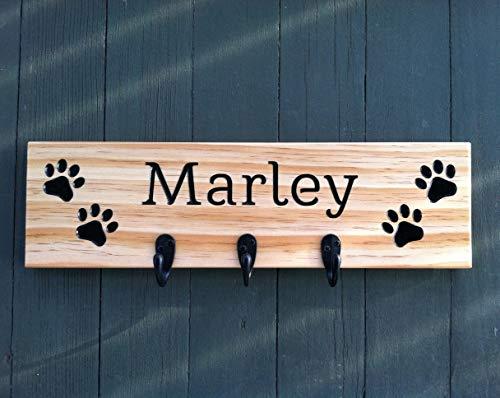 Personalized Dog Leash Holder, Dog Leash Holder Wall, Dog Leash Hook, Dog Leash Hooks, Pet Leash Holder, Dog Leash Hanger