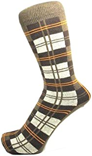 Mens Checked Ankle Socks Gents Cotton Rich - Size 6-11