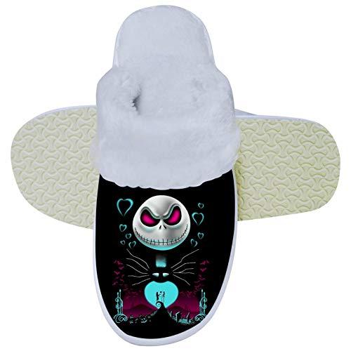 436 The Night-ma-re Before Christmas - Pantuflas unisex de espuma viscoelástica para el dormitorio, cómodos zapatos para interiores y exteriores 6.5-7.5 B (M) US Mujeres/5.5-6.5 D (M) EE. UU