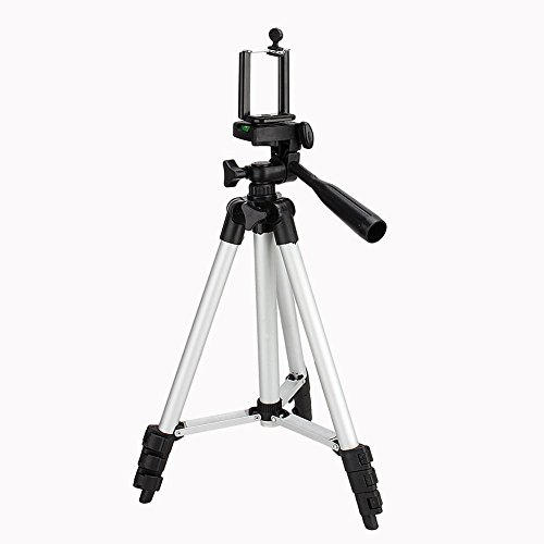 Zerone Soporte de trípode de aluminio, flexible, portátil, para cámara, teléfono, trípode, montura universal para smartphone con bolsa de transporte