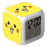 Pokémon Anime Pikachu Glowing LED Réveil Couleur Numérique Réveil