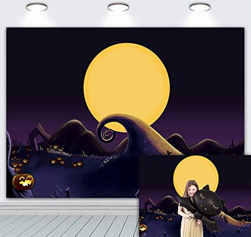 Fondo de pesadilla antes de Navidad para Halloween Pumpkin Jack tema fiesta de cumpleaños Baby Shower estudio fotográfico fondo de fotografía