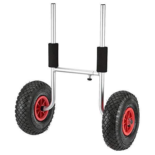 ZJY Sit-on-Top-Kajakwagen auf Rädern, Faltbarer Trolley - Eva-Schaumstoff mit Einstellbarer Breite Voll-PU-Luftfahrt-Aluminiumkörper - für alle offenen Kajaks und Kanus