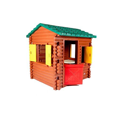 Little Tikes Blockhütte - Outdoor Sommerspaß - Spielhaus Blockhütte - Mit Spieltelefon, Tür, Fensterläden und mehr - Fördert fantasievolles Spielen für Kleinkinder ab 24 Monaten bis 6 Jahren
