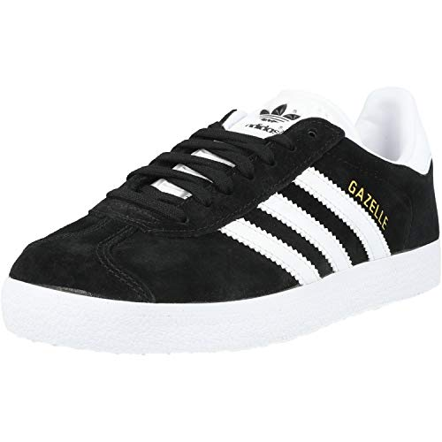 adidas Gazelle, Zapatillas de deporte Unisex Adulto, Varios colores (Core Black/White/Gold Metalic), 46 EU