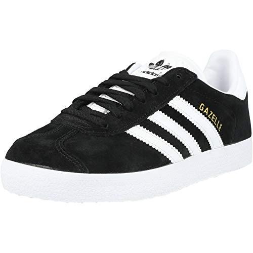 adidas Gazelle, Scarpe da Ginnastica Basse Uomo, Nero (Core Black/White/Gold Met), 44 EU
