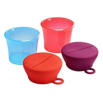 Boon SNUG Lid with Snack Cups Pink