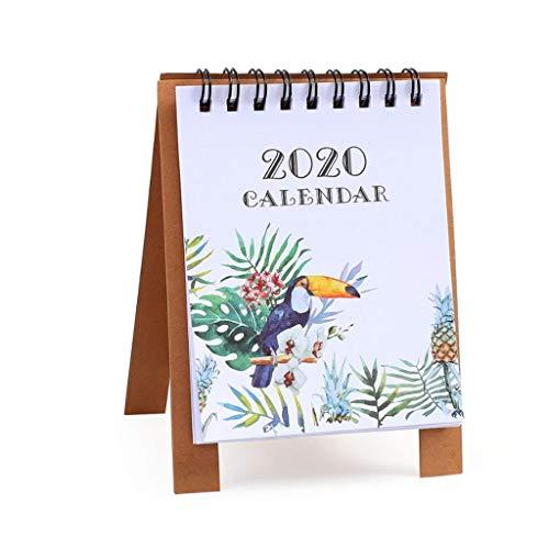 Wandkalender voor het bureau, 2020 mini kantoor 2019 kalender, tafelkalender, schoolplanner, bureaukalender, wandkalender, kantoor Een