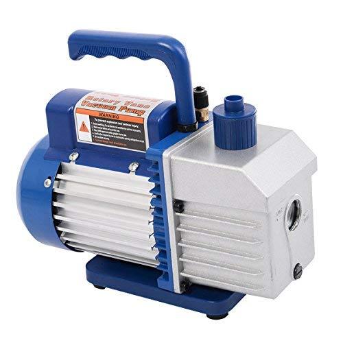 "Goplus Vacuum Pump 1/3HP Rotary Vane Deep Refrigerant R410a R134a HVAC AC Air Tool with 1/4"" Flare Inlet Port (Single Stage 5CFM)"