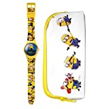 MINIONS WATCH AND CASE SET PLASTIC; MULTICOLOUR 2 YEAR WARRANTY