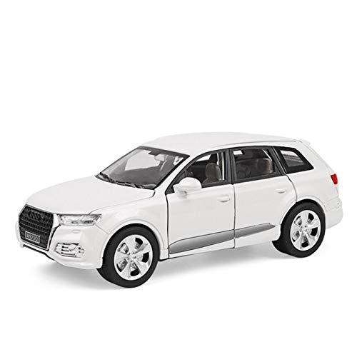 Simulación De Escala 1/24 para Audi Q7, Modelo De Aleación De Fundición A Presión, Luz De Sonido, Juguetes De Coche para Niños, Regalo De Cumpleaños Colección (Color : White, Size : A)