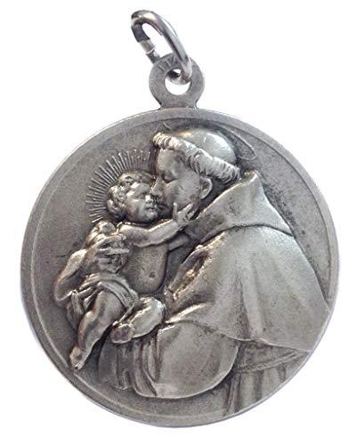 Médaille Saint Antoine de Padoue en Haut Relief - Grande taille - Big Size- 32 mm