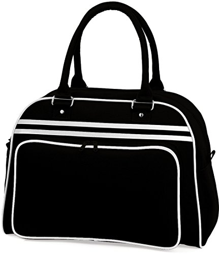 Sporttasche 'Retro Bowling Bag' Black/White