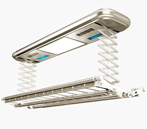 NANXCYR 9002 Elektrische droogrek, plafondmontage, intelligente elektrische wasdroger, lifting met afstandsbediening, led-verlichting, uv-desinfectie, droog en fan wind droog voor optiek, champagne,